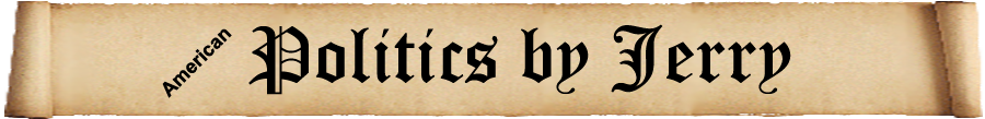 Pagetop banner with political images and logo 'Politics by Jerry'